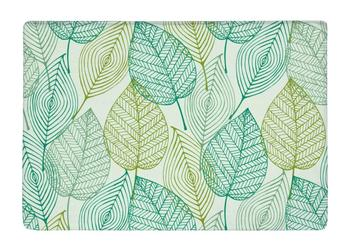 Floor Mat Green Leaf Art Allover repeat Print Non-slip Rugs Carpets alfombra For Indoor Outdoor living kids room